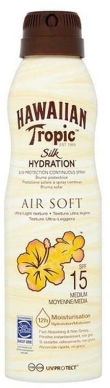 Ochronny spray do opalania ciała SPF 15 - Hawaiian Tropic Silk Hydration Air Soft Protective Mist — фото N1