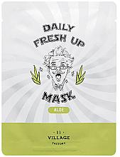 Kup Odświeżająca maseczka w płachcie do twarzy z ekstraktem z aloesu - Village 11 Factory Daily Fresh Up Mask Aloe