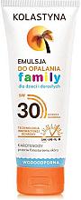Kup Wodoodporna emulsja do opalania dla dzieci i dorosłych SPF 30 - Kolastyna Family