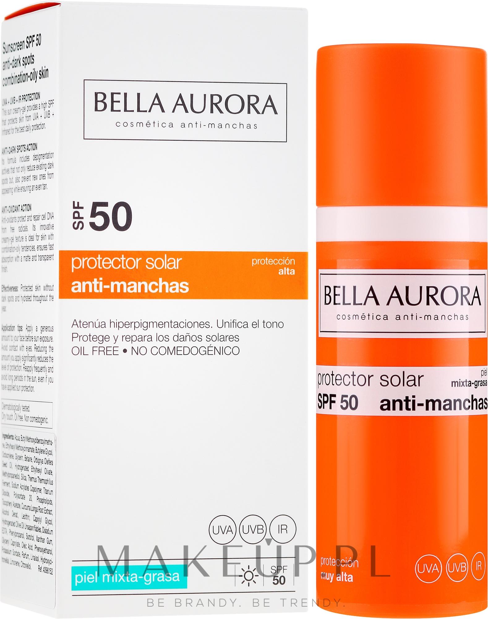 Przeciwsłoneczny krem do cery tłustej SPF 50+ - Bella Aurora Sunscreen Gel Oily Skin — фото 50 ml