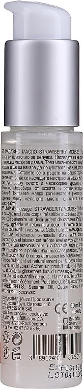Olejek do masażu Mus truskawkowy - Sezmar Collection Love Massage Oil Strawberry Mousse — фото N2