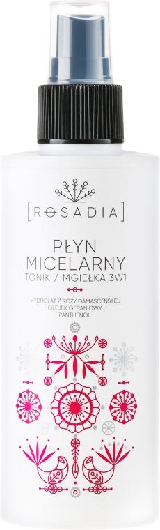 PREZENT! Płyn micelarny, tonik, mgiełka 3 w 1 - Rosadia — фото N1
