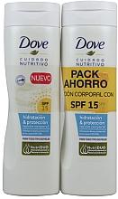Kup Zestaw - Dove Nourishing Care & Protect SPF15 (b/lot/2x250ml)