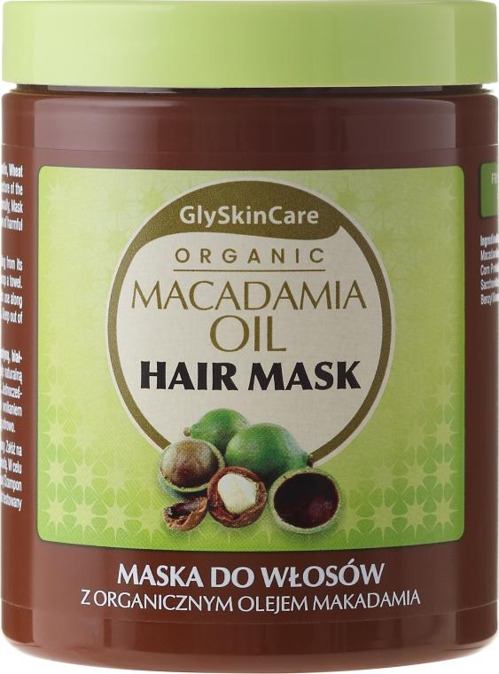 Maska do włosów z organicznym olejem makadamia - GlySkinCare Macadamia Oil Hair Mask