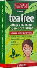 Kup Płatki głęboko oczyszczające pory nosa - Beauty Formulas Tea Tree Deep Cleansing Nose Pore Strips