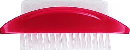 Kup Dwustronna szczotka do rąk i stóp z pumeksem, czerwona - Konex Two-sided Foot And Toenail Brush With Rough Pumice
