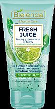 Kup Detoksykujący peeling gruboziarnisty do twarzy z bioaktywną wodą cytrynową Limonka - Bielenda Fresh Juice