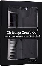 Kup Grzebień do włosów - Chicago Comb Co Giftbox Model No. 3 RVS + Hoesje