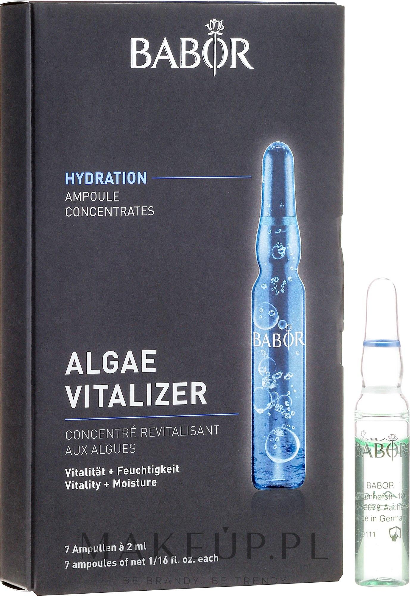 Ampułki do twarzy z algami - Babor Ampoule Concentrates Algae Vitalizer — фото 7 x 2 ml