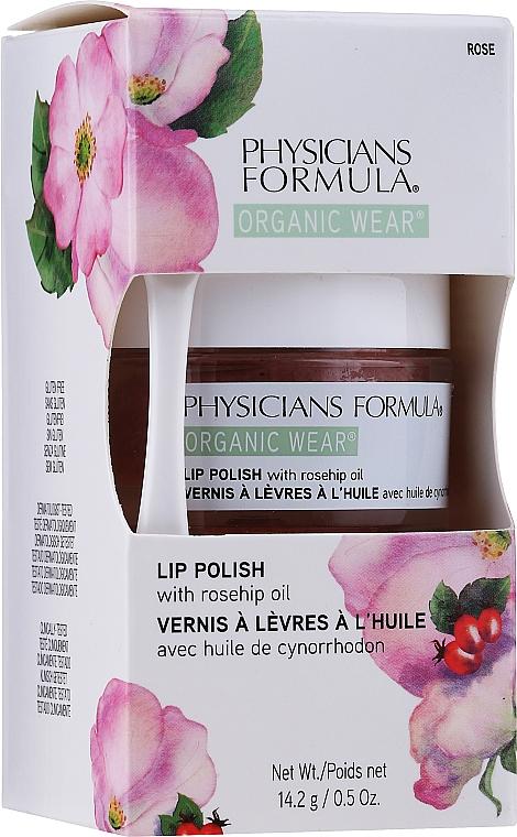 Peeling do ust z organicznym olejem różanym - Physicians Formula Organic Rose Oil Lip Polish — фото N2