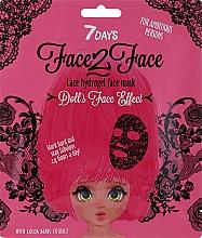 Kup Hydrożelowa maseczka z ekstraktem z ziaren kakaowca - 7 Days Face2Face Lace Hydrogel Mask Cocoa Beans