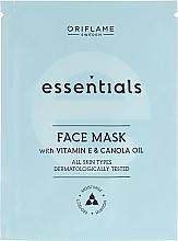 Kup Nawilżająca maska do twarzy z witaminą E i olejem canola - Oriflame Essentials Face Mask