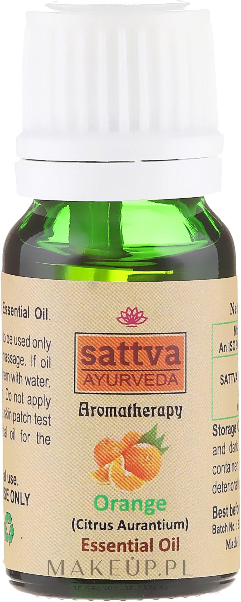Olejek pomarańczowy - Sattva Ayurveda Aromatherapy Orange Essential Oil — фото 10 ml
