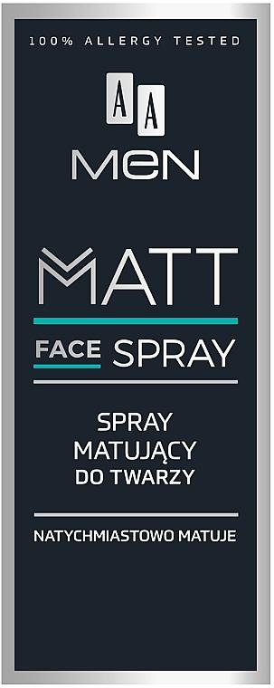 Matujący spray do twarzy dla mężczyzn - AA Men Matt Face Spray