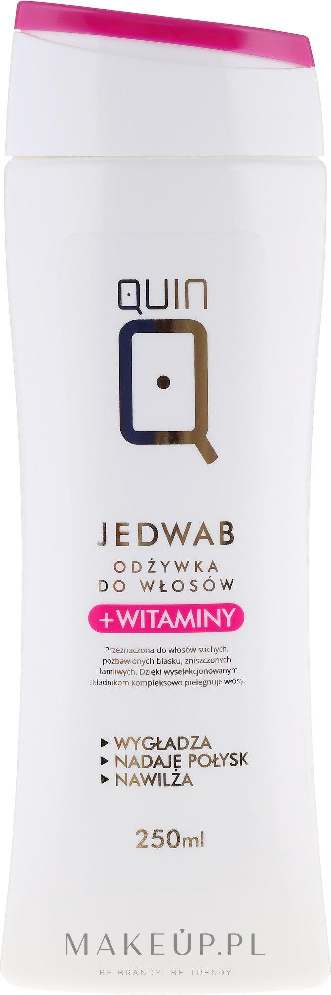 Odżywka do włosów z jedwabiem i witaminami - Silcare Quin Silk & Vitamins Hair Conditioner — фото 250 ml