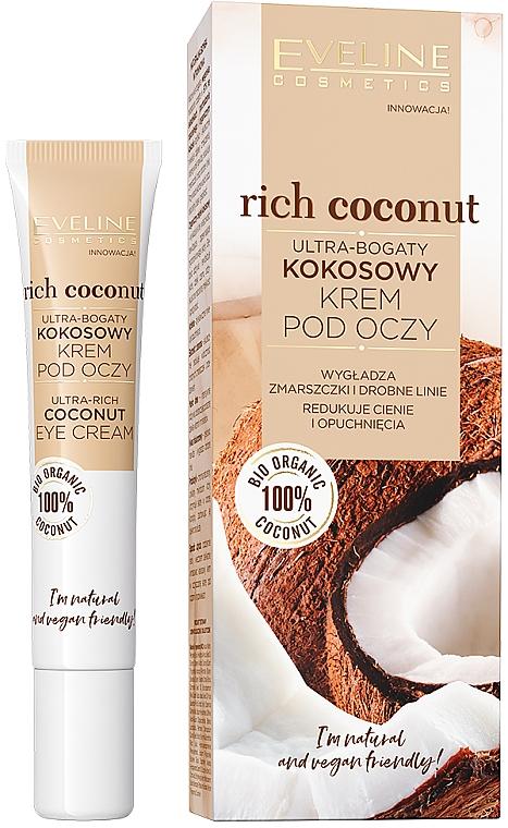Ultra-bogaty kokosowy krem pod oczy - Eveline Cosmetics Rich Coconut Eye Cream