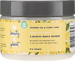 Kup Regenerująca maska do włosów zniszczonych Olej kokosowy i ylang-ylang - Love Beauty and Planet Hair Mask Hope And Repair