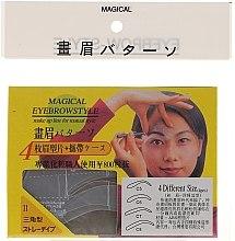 Kup Szablon do makijażu brwi, rozmiar C5, C6, C7, C8 - Magical Eyebrow Style