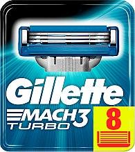 Wymienne ostrza do maszynki, 8 szt. - Gillette Mach3 Turbo — фото N3