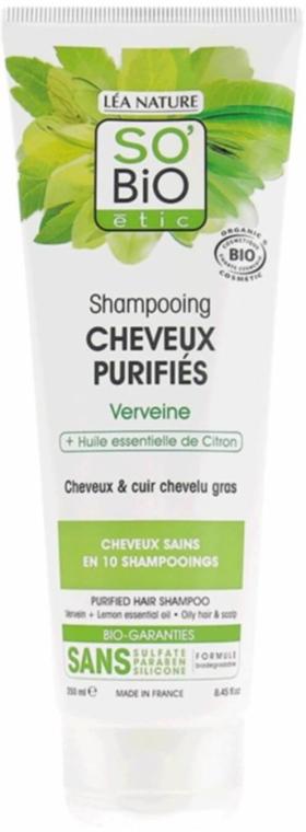 Oczyszczający szampon z werbeną i olejkiem cytrynowym - So'Bio Etic Shampoo With Verbena & Lemon Oil — фото N1
