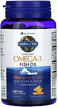 Kup Olej rybny Omega-3 w żelowych kapsułkach o smaku pomarańczowym - Garden of Life Minami Supercritical Omega-3 Fish Oil