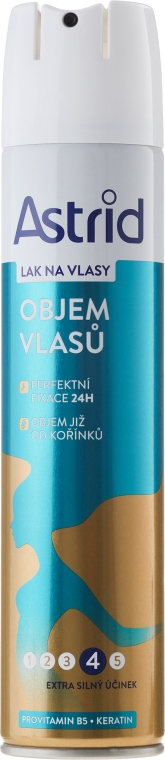 Lakier zwiększający objętość włosów - Astrid Hairspray With Extra Strong Effect On The Volume of Hair — фото N1