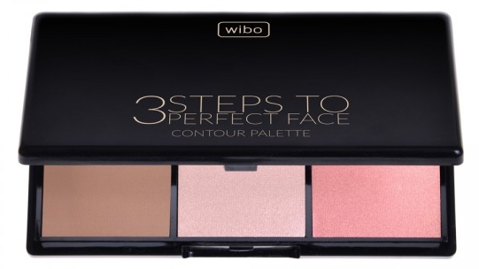 Paleta do konturowania twarzy - Wibo 3 Steps To Perfect Face Contour Palette