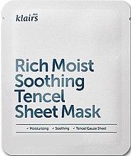 Kup Nawilżająca maska na tkaninie do twarzy - Klairs Rich Moist Soothing Tencel Sheet Mask
