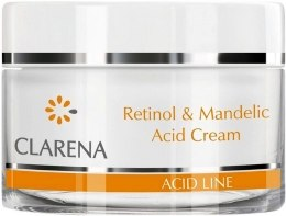 Kup Przeciwzmarszczkowy krem do twarzy z kwasem migdałowym i retinolem - Clarena Retinol & Mandelic Acid Cream