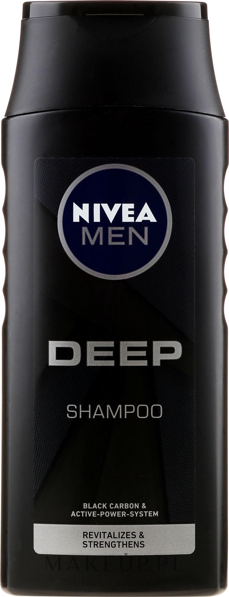 Szampon - Nivea Men Deep Revitalizing Hair & Scalp Clean Shampoo — фото 250 ml