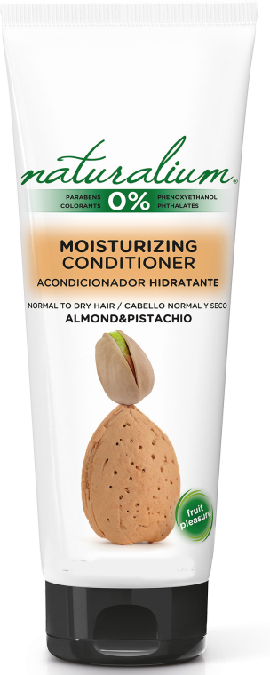 Nawilżająca odżywka do włosów normalnych i suchych Migdał i pistacja - Naturalium Almond & Pistachio Moisturizing Conditioner — фото N1