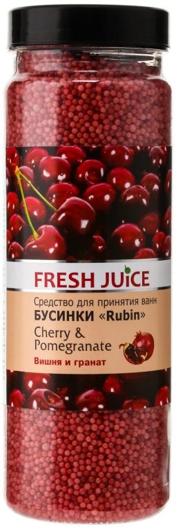 Perełki do kąpieli - Fresh Juice Bath Bijou Rubin Cherry And Pomegranate — фото N1