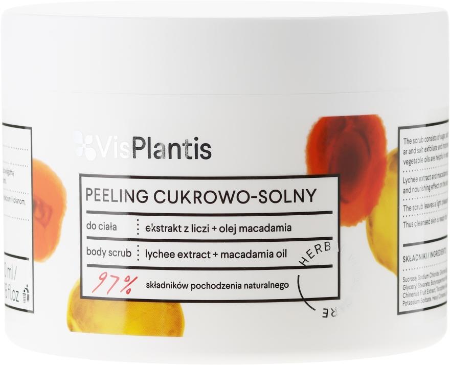 Peeling cukrowo-solny z ekstraktem z liczi i olejem makadamia - Vis Plantis Herbal Vital Care