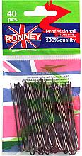 Kup Wsuwki, brązowe 65 mm, 40 szt. - Ronney Professional Brown Hair Pins