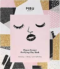 Kup Oczyszczająca maseczka z glinką w płacie do twarzy z wyciągiem z kwiatów - Pibu Beauty Flower Extract Purifying Clay Mask