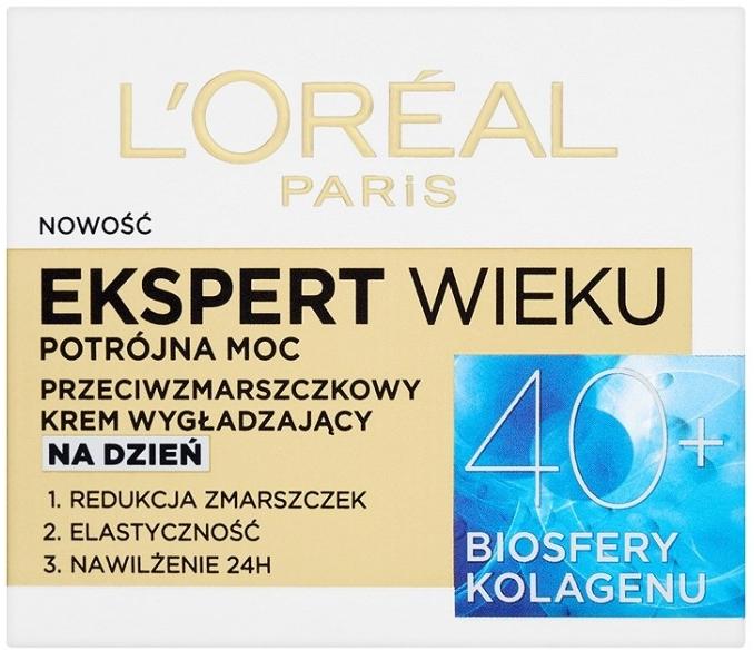 Przeciwzmarszczkowy krem wygładzający do twarzy na dzień 40+ - L'Oreal Paris Age Specialist Expert Day Cream
