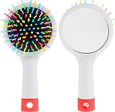 Kup Szczotka do włosów z lusterkiem, szara - Twish Handy Hair Brush with Mirror Light Grey