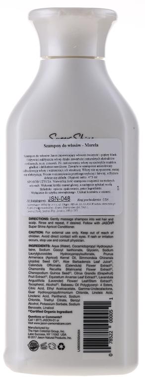 Nabłyszczający szampon do włosów Morela - Jason Natural Cosmetics Super Shine Apricot Shampoo — фото N2
