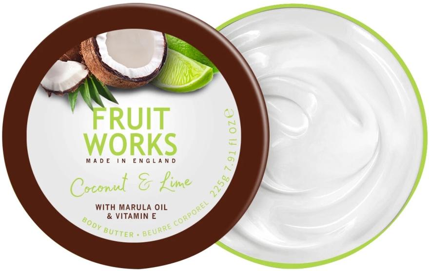 Masło do ciała Kokos i limonka - Grace Cole Fruit Works Body Butter Coconut & Lime — фото N1
