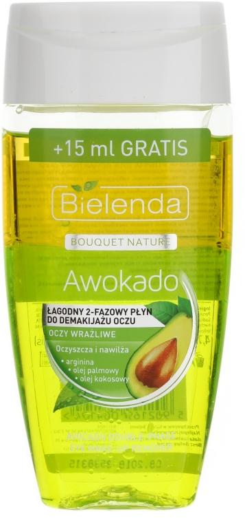 Łagodny dwufazowy płyn do demakijażu oczu Awokado - Bielenda Bouquet Nature