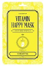 Kup Rozświetlająca maska witaminowa do twarzy w płachcie - Kocostar Vitamin Happy Mask