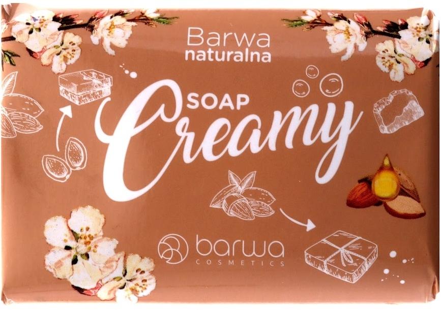 Kremowe mydło w kostce z gliceryną - Barwa Naturalna