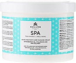 Kup Krem do masażu stóp i rąk - Kallos Cosmetics SPA Hand And Foot Care Massage Cream