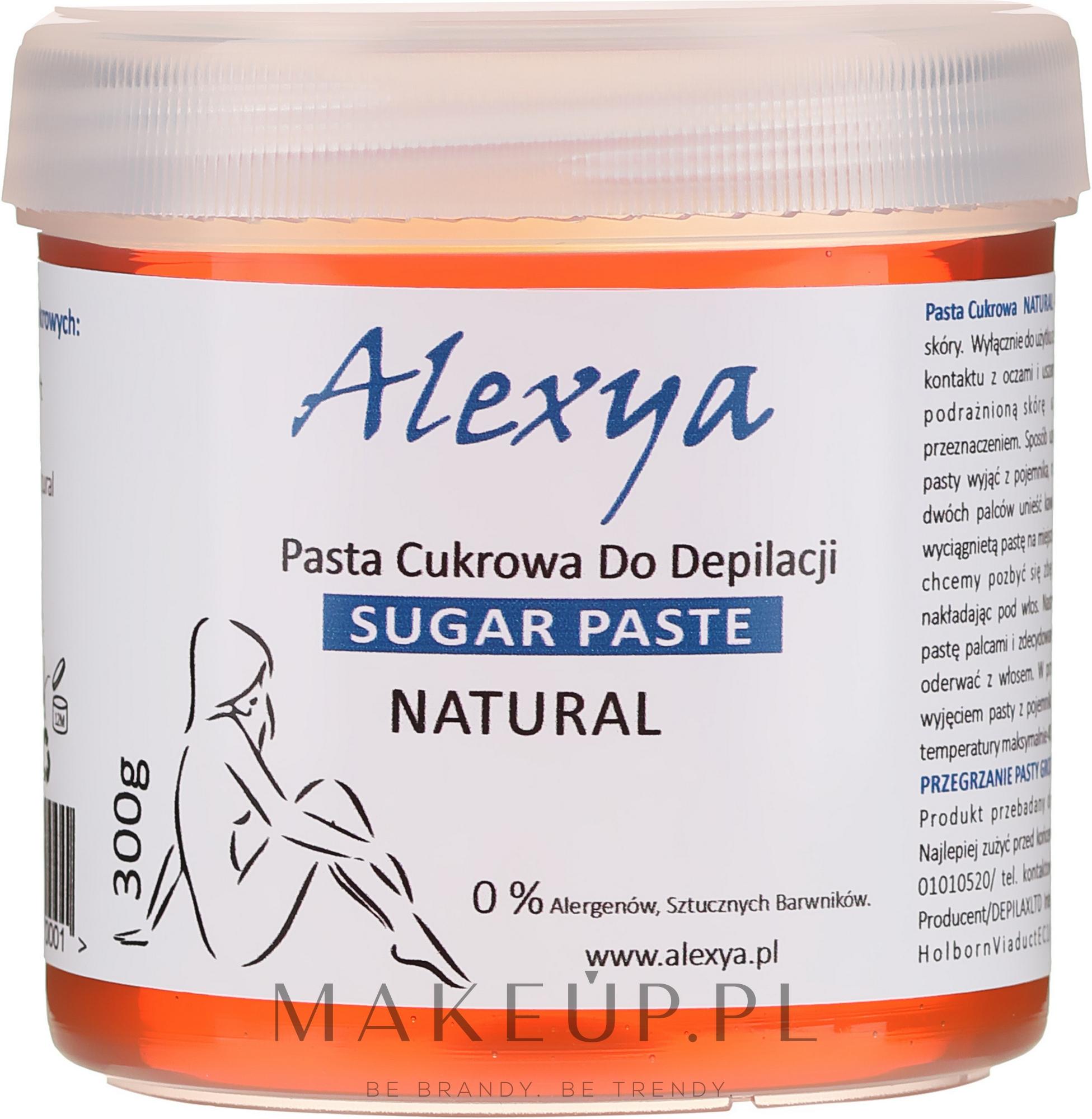 Pasta cukrowa do depilacji - Alexya Sugar Paste For Depilation Natural — фото 300 g
