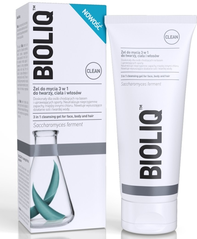 Żel do mycia 3 w 1 do twarzy, ciała i włosów - Bioliq Clean Cleansing Gel For Face Body And Hair