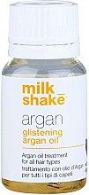Kup Nabłyszczający olejek arganowy do głębokiej regeneracji i stylizacji wszystkich rodzajów włosów - Milk Shake Argan Glistening Argan Oil