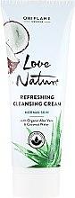 Kup Oczyszczający krem do twarzy z organicznym aloesem i wodą kokosową - Oriflame Love Nature Refreshing Cleansing Cream
