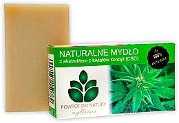Kup Naturalne mydło z ekstraktem z kwiatów konopi - Powrot Do Natury