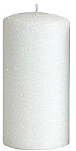 Kup Świeca dekoracyjna, biały walec, 7 x 14 cm - Artman Glamour