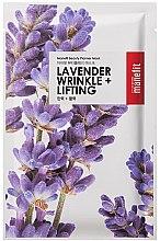 Kup Delikatna maseczka do twarzy w płachcie Lawenda - Manefit Beauty Planner Lavander Wrinkle + Lifting